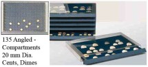 Ancient Coins - Stackable Coin Drawer - 135 Angled Compartments