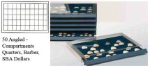 Ancient Coins - Stackable Coin Drawer - 50 Angled Compartments