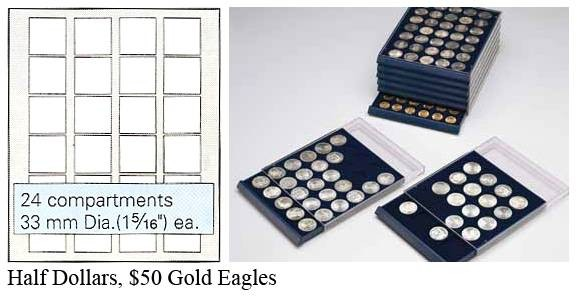 Ancient Coins - Nova Coin Tray - Stackable - 24 compartments