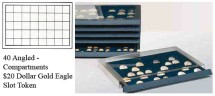 Ancient Coins - Stackable Coin Drawer - 40 Angled Compartments