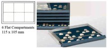 Ancient Coins - Stackable Coin Drawer - 6 Flat Compartments