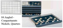 Ancient Coins - Stackable Coin Drawer - 84 Angled Compartments
