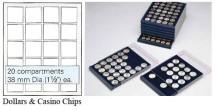 Ancient Coins - Nova Coin Tray - Stackable - 20 compartments