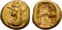 Ancient Coins - ACHAEMENID EMPIRE, ARTAXERXES II - DARIUS III, 375-336 BC. (AV Daric  8.35g  15mm) EF, lustrous with fine style, uncommon type.