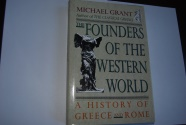 Ancient Coins - THE FOUNDERS OF THE WESTERN WORLD by MICHAEL GRANT 1991 (352 Pages) Hardback & Dust jacket