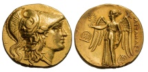 Ancient Coins - MACEDONIA, ALEXANDER III, The Great; 336-323 BC. (Stater 8.50g  17.5mm) Tyre Mint circa 305-290 BC. NEAR MINT STATE