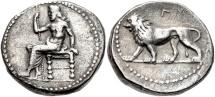 Ancient Coins - SELEUKID KINGS of SYRIA - SELEUKOS I NIKATOR As Satrap, 321-315 BC. (AR Stater 16.35g 23mm 6h)  Babylon II Mint RARE, CHOICE VF.