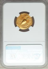 Ancient Coins - JULIUS CAESAR as DICTATOR, 49-44 BC. (AV AUREUS 8.03g 20.8mm 7h) [NGC CHOICE VF 4/5-3/5]