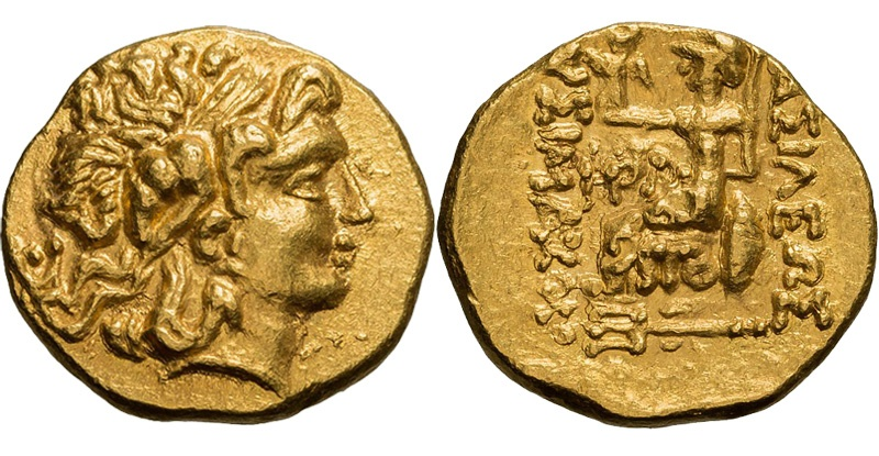 "Ancient Coins - BRUTUS; TOMIS, UNDER BRUTUS, 44-42 BC. (AV Stater 8.38g  19.5mm) [NGC MS 4/5-4/5] ""Restoring types of Lysimachus."" MINT STATE, LUSTROUS"