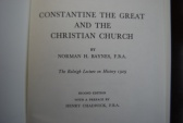 """Ancient Coins - CONSTANTINE THE GREAT AND THE CHRISTIAN CHURCH BY NORMAN H. BAYNES, F.B.A.""""THE RALEIGH LECTURE ON HISTORY 1929"""" THE BRITISH ACADEMY, OXFORD UNIV. PRESS. [107 PAGES] EXCELLENT"""