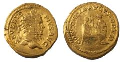 Ancient Coins - SEPTIMIUS SEVERUS, 193-211 AD. (AV Aureus (7.29g 20mm 6h) Rome mint, Struck 209 AD. DYNASTIC ISSUE  Fine & Very Rare, (RIC R-2)(Calico R-1) Just some honest wear & deposits