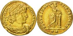 Ancient Coins - CONSTANTINE I, THE GREAT, 307/310-337 AD. (AV Solidus 4.5g 20.6mm) Trier Mint,  335-336 AD. Extremely fine & rare type with golden and florescent highlights around the devices.