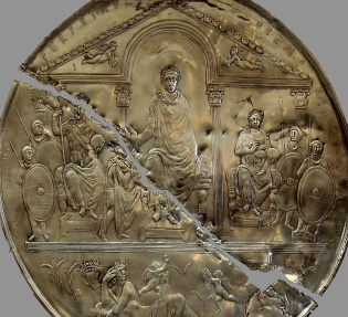 Ancient Coins - THEODOSIUS I  THE GREAT, 379-395 AD   (AV 4.48g 21mm) Lugdunum Mint (Struck 389-390 AD) Razor-sharp detail!  Mint State/Superb EF