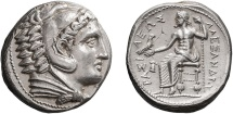 Ancient Coins - MACEDONIA, ALEXANDER III THE GREAT, 336-323 BC. Amphipolis Mint  Circa 323-320 BC. (Tetradrachm 17.16g 25.7mm)  MINT STATE & STUNNING!