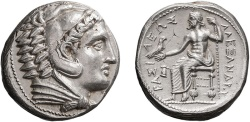 Ancient Coins - MACEDONIA, ALEXANDER III THE GREAT, 336-323 BC. Amphipolis (Tetradrachm 17.18g 25.7mm) [NGC AU 5/5-4/5]