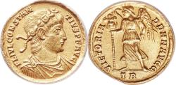Ancient Coins - CONSTANTIUS II, as Augustus, 337-361 AD. (4.5g 21mm 6h) [ANACS AU 53] Treveri Mint   Rare issue & Extremely Fine