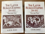 THE LATER ROMAN EMPIRE by A.H.M. JONES, 2 Volumes  1964 John Hopkins Univ. Press 1518 pages Very Good