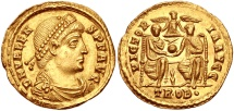 Ancient Coins - VALENS, 364-368 AD. (AV 4.48g 21mm)   Treveri Mint (Trier)  Struck 371-372 AD.   Mint State
