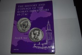 THE HISTORY AND COINAGE OF THE ROMAN IMPERATORS 49-27 BC. by DAVID SEAR, [LONDON,1998] many illustrations, hardback with dust jacket 360 pages.  LIKE NEW