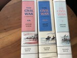 THE CIVIL WAR by SHELBY FOOTE, 1958. 3 VOLUMES 1ST EDITION - RANDOM HOUSE Hardbacks/jackets Very good
