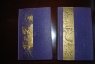 Ancient Coins - LIVES OF THE ROMAN EMPRESSES BY DE SERVIEZ (2 VOLUMES) 1925 (388 & 451 PAGES)  HARDBACK WITH GOLD LEAF APPLIED.  VERY GOOD