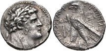 "Ancient Coins - PHOENICIA, TYRE. 126/5 BC.- 65/6 AD. (AR Shekel 13.62g  29mm 12h  Dated CY 29 (98/7 BC.) [""Thirty pieces of silver"" Matthew 26:15]  GOOD VF & TONED."