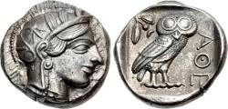Ancient Coins - ATTICA, ATHENS. Circa 454-404 BC. (AR Tetradrachm 17.18g  24.5mm  1h) [NGC AU 5/5-5/5]