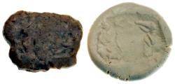 Ancient Coins - Jemdet Nasr Large Stone Stamp Seal w/Skull, 3100-2900 BC, 43x58 mm, Intact