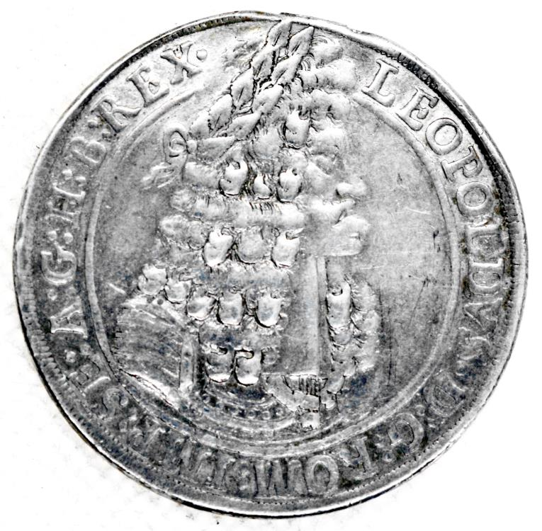 World Coins - Austria, Leopold I the Hogmouth, 1700 Hall Mint, Thaler, KM 1303.4, VF mount removed.