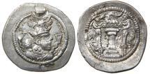 Ancient Coins - PERSIA, SASANIAN, Peroz I, AD 459-484, AR Drachm, AT Mint.