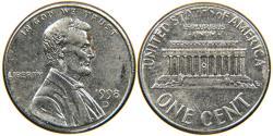 Us Coins - UNITED STATES, 1998-D Lincoln Cent, Unplated Zinc Error, AU/BU.