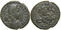 Ancient Coins - CONSTANTIUS II, AD 337-361, AE2, FTR Fallen Horseman, Aqileia, RIC 113/147.