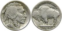 Us Coins - UNITED STATES, 1938-D/S Buffalo Nickel, Fine.