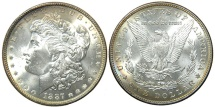 Us Coins - UNITED STATES, 1887 Morgan Dollar, Choice Toned UNC.