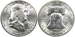 Us Coins - UNITED STATES, 1952-S Franklin Half Dollar, MS64.