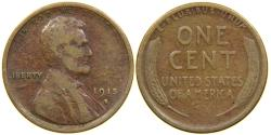 Us Coins - UNITED STATES, 1915-S Lincoln Cent, VG.