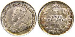 World Coins - CANADA, George V, 1910-1936, AR 10 Cents, 1919, Choice AU.