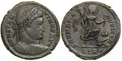 "Ancient Coins - CONSTANTINE I, ""The Great"", AD 307-337, AE3, SARMATIA DEVICTA, Lyons, RIC 435."