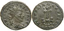 Ancient Coins - CLAUDIUS II, AD 268-270, Billon Antoninianus, VICTORIAE GOTHIC, Cyzicus. RIC Unlisted.