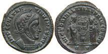 Ancient Coins - CONSTANTINE I, AD 307-337, AE3, VICTORIAE LAETAE PRINC PERP, Ticinum, RIC 87 (R3).