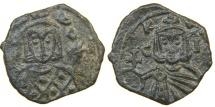 """Ancient Coins - BYZANTINE, SICILY, Leo V """"The Armenian"""" & Constantine, 813-820, AE Follis, Syracuse."""