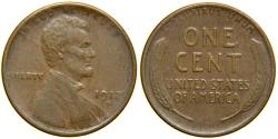 Us Coins - UNITED STATES, 1917-D Lincoln Cent, EF.