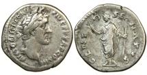 Ancient Coins - ANTONINUS PIUS, AD 138-161, AR Denarius, Genius of the Senate.