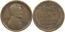 Us Coins - UNITED STATES, 1914-D Lincoln Cent, VG.