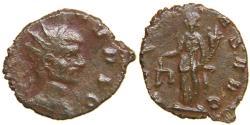 Ancient Coins - MONEYERS' REVOLT, Divus Claudius II, d. AD 270, Hybrid AE Antoninianus, Aequitas.