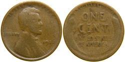 "Us Coins - UNITED STATES, 1922 ""Weak D"" Lincoln Cent, Die Pair #3, VG."