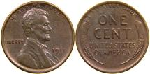 Us Coins - UNITED STATES, 1911 Lincoln Cent, AU.