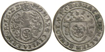 World Coins - GERMANY, ERFURT, Free Imperial City, AR 1/24 Thaler or Groschen, 1622. Alchemy.