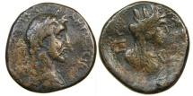 Ancient Coins - JUDAEA, GAZA, Antoninus Pius, AD 138-161, AE31, Tyche, Year 208. Ex CNG/ Seaby.