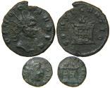 Ancient Coins - DIVUS CLAUDIUS II, d. AD 270, AE Antoninianus, CONSECRATIO Altar Type, Official & Barbarous Lot.